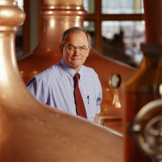 Fritz Maytag in the Brewhouse