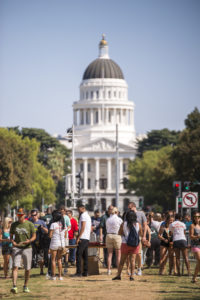 people at the state capital