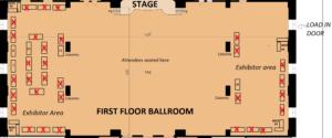 Table layout first floor ballroom