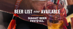 A beer graphic that reads 'Beer list now available'