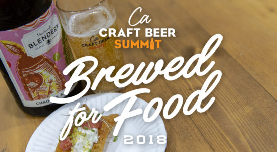 """Food and Beer Pairings, """"Brewed for Food"""" Highlights, Chef Demos, Beer Dinners and More!"""
