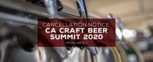 CA Craft Beer Summit 2020 Cancelled