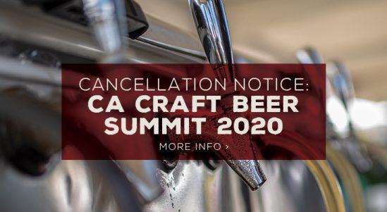 Cancellation: 2020 CA Craft Beer Summit